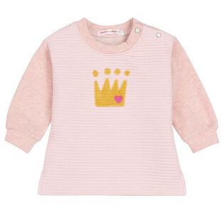 Baby Girls' [6-24M] Quilted Pullover Sweatshirt