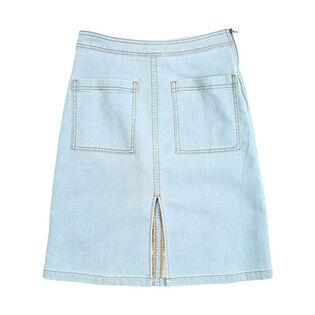 Women's Indigo Patch Pocket Skirt