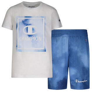 Boys' [2-4] Watercolour Tee + Short Two-Piece Set