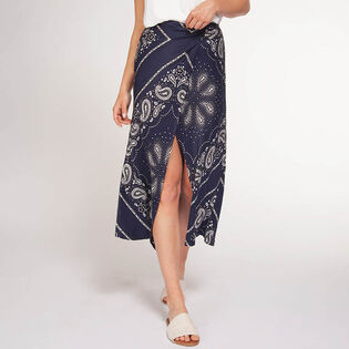 Women's Printed Midi Skirt