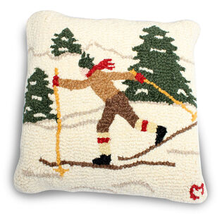 Cross Country Skier Pillow