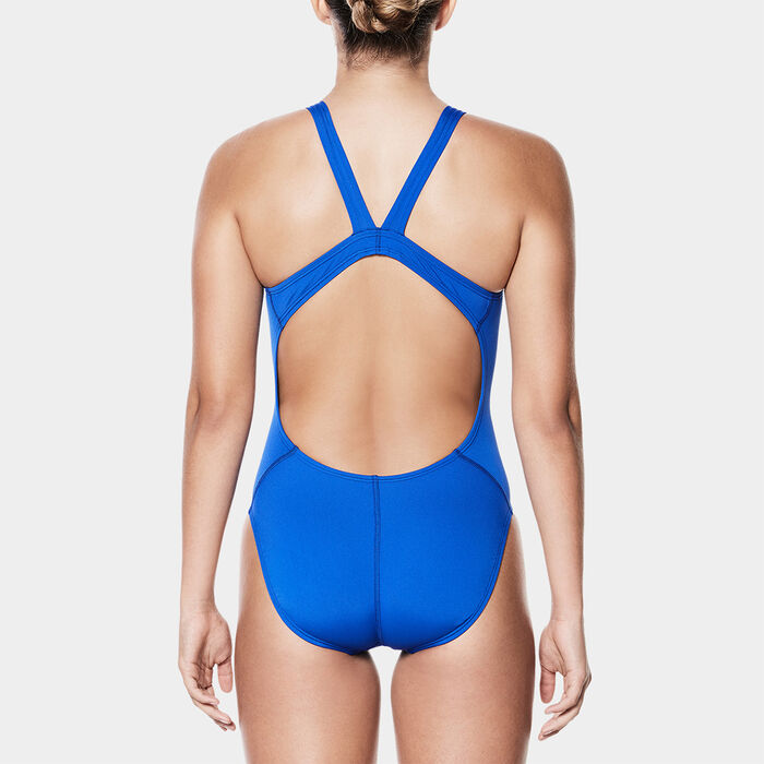 5695f1c75 Women's Poly Core Solid Fastback One-Piece Swimsuit | Nike ...