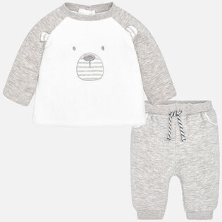 Baby Boys' [3-12M] Bear Two-Piece Tracksuit