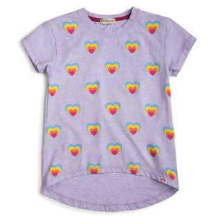 Girls' [2-7] Rainbow Hearts Circle T-Shirt