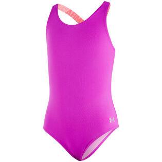 Junior Girls' [7-16] Racer One-Piece Swimsuit