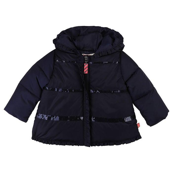 Manteau avec volants à paillettes pour bébés filles [12-24M]