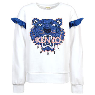 Junior Girls' [8-14] Racing Tiger Sweatshirt
