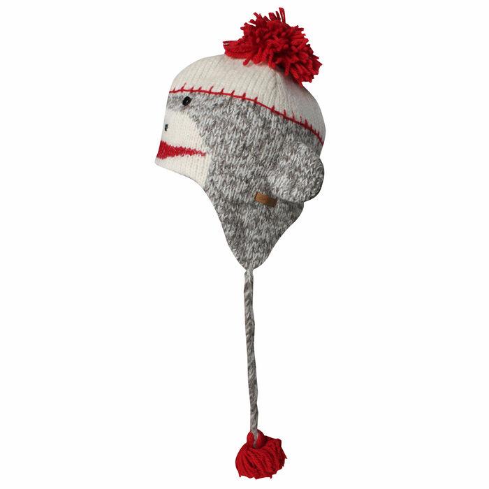 Chapeau en laine Sock Monkey pour femmes