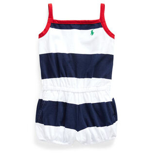 Baby Girls' [3-24M] Striped Cotton Romper