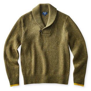 Men's Nep Shawl Sweater