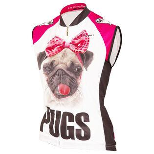 Women's Pugs Sleeveless Cycling Jersey