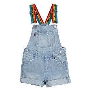 Junior Girls' [7-16] Rainbow Denim Shortall