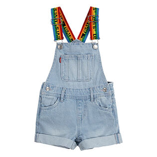 Girls' [4-6X] Rainbow Denim Shortall