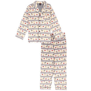 Men's Winter Fair Isle Two-Piece Pajama Set