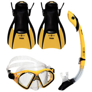 Admiral 4 Piece Snorkel Kit (Foot Size: 7-10)