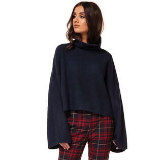 Women's Knit Wide Mock Sweater