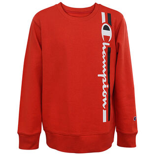 Junior Boys' [8-16] Vertical Script Crew Sweatshirt