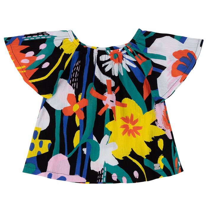 Girls' [3-6] Abstract Floral Blouse