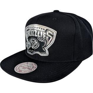 Men's Vancouver Grizzlies Black + Silver Snapback Hat