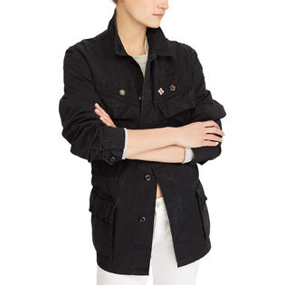 Women's Patchwork Military Jacket