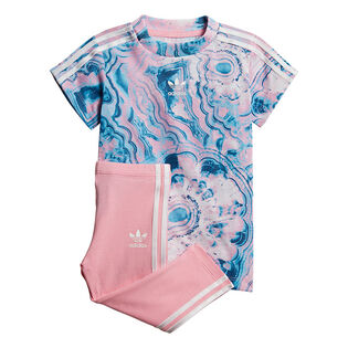 Baby Girls' [3M-3Y] Marble T-Shirt Dress Two-Piece Set