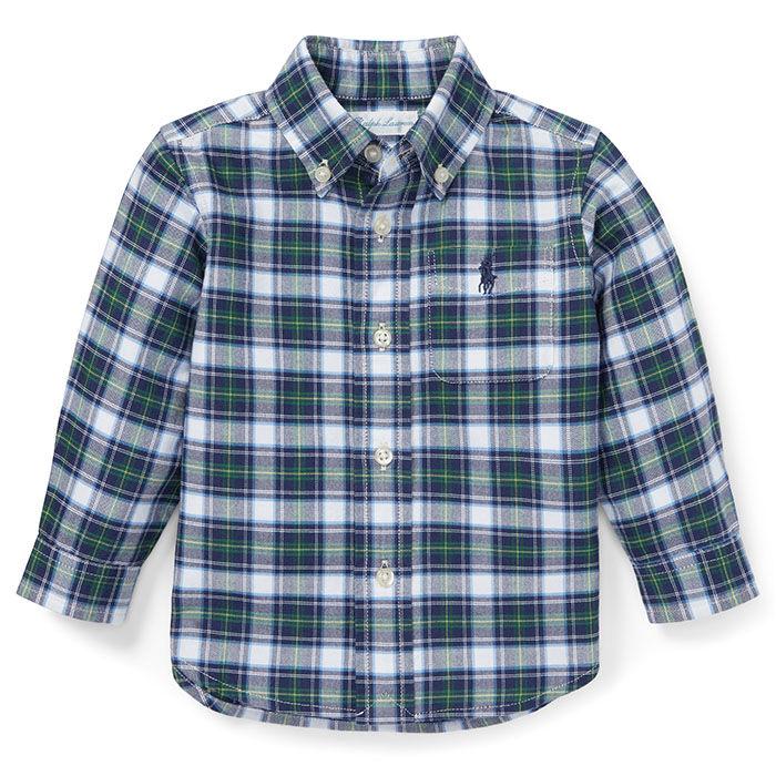 Chemise à carreaux en coton oxford pour bébés garçons [9-24M]