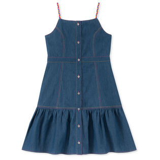 Junior Girls' [8-16] Button-Down Braided Strap Dress