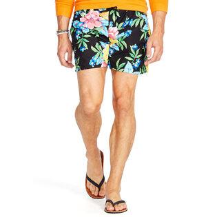 Men's Floral-Print Traveler Swim Trunk