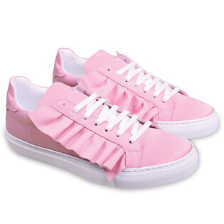 Women's Ruffle Lace-Up Sneaker