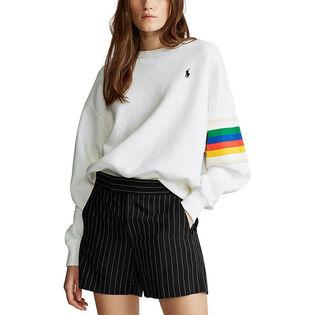 Women's Rainbow Trim Fleece Sweatshirt