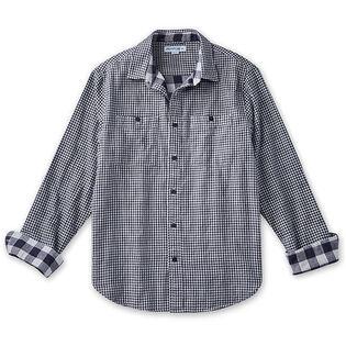 Chemise à motif guingan pour hommes