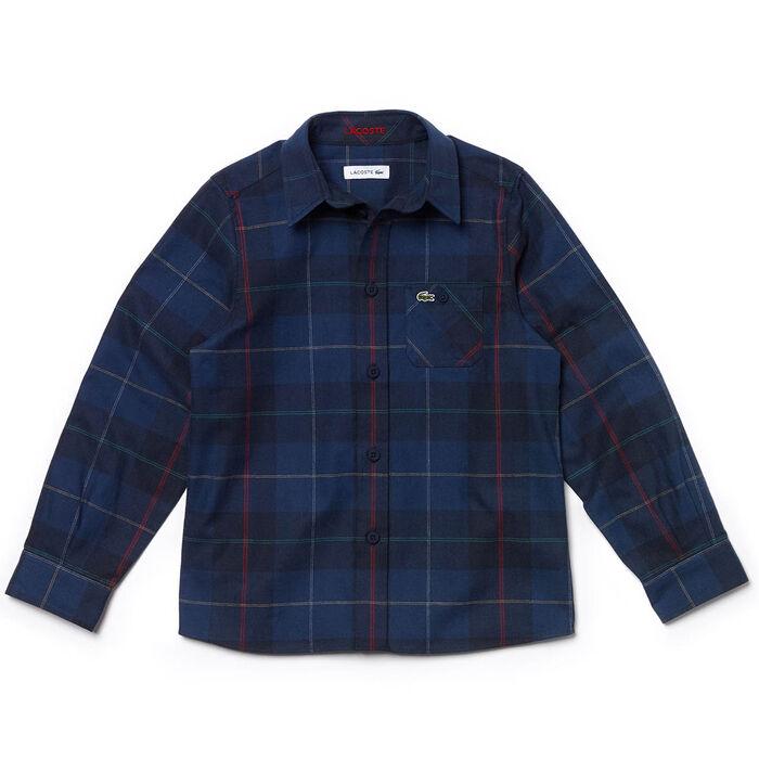 Junior Boys' [10-16] Flannel Plaid Shirt