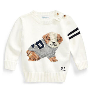 Baby Boys' [6-24M] Dog Cotton-Wool Sweater