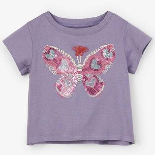 T-shirt Glitzy Butterfly pour bébés filles [3-24M]