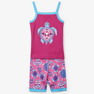 Girls' [2-7] Pretty Sea Turtles Two-Piece Pajama Set