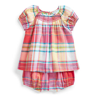 Baby Girls' [3-24M] Madras Top + Bloomer Two-Piece Set