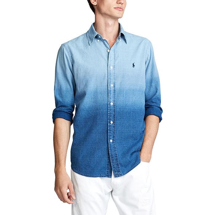 Men's Classic Fit Dip-Dyed Shirt