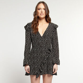 Women's Dot Wrap Dress