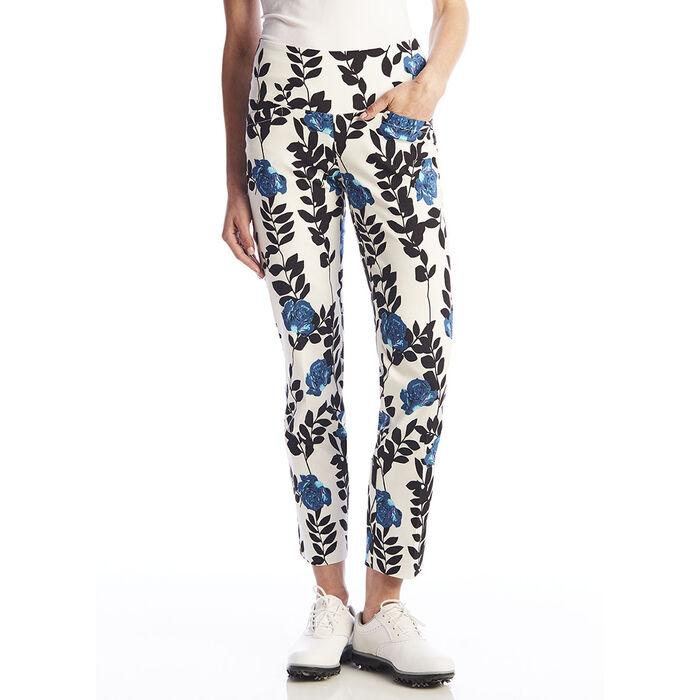 Pantalon à la cheville à motif floral pour femmes