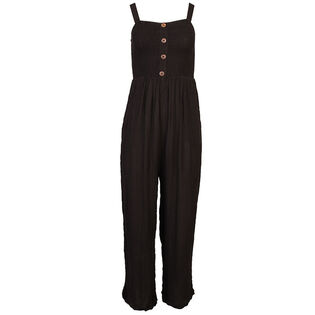 Women's Smocked Crop Jumpsuit