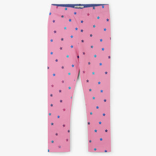Girls' [2-6] Holographic Star Legging