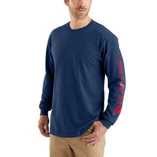 Men's Graphic Logo Long Sleeve T-Shirt