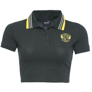 Women's Cropped Polo Top