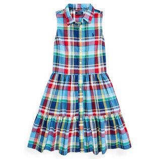 Junior Girls' [7-16] Cotton Madras Shirtdress