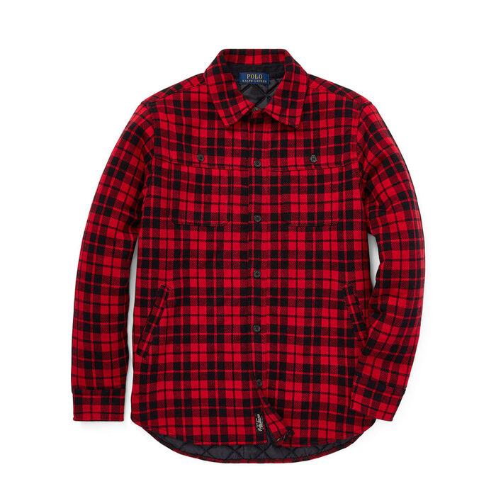 Junior Boys' [8-20] Plaid Double-Knit Shirt Jacket