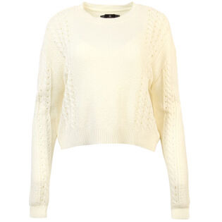 Women's Cable Bodied Crew Sweater