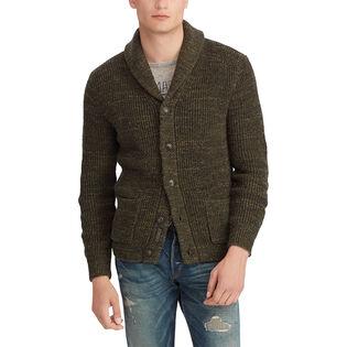 Men's Cotton Shawl Collar Cardigan