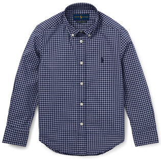 Boys' [2-4] Poplin Check Shirt