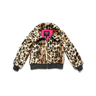 Junior Girls' [8-14] Cheetah Faux Fur Coat