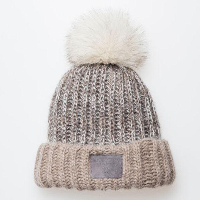 Bonnet en tricot épais pour femmes